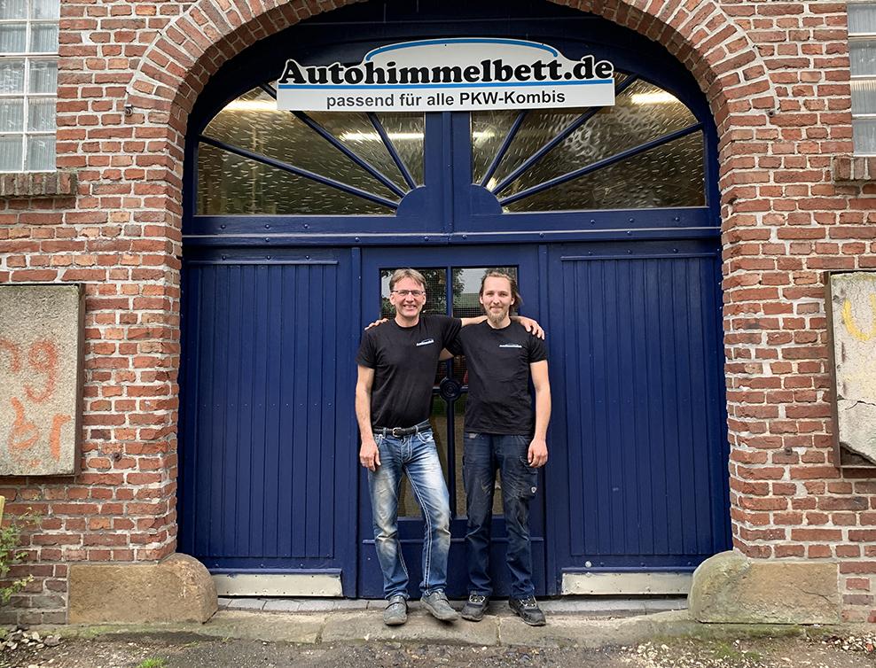 Jens Buse und Sohn Simon Spellmeyer | Team Autohimmelbett